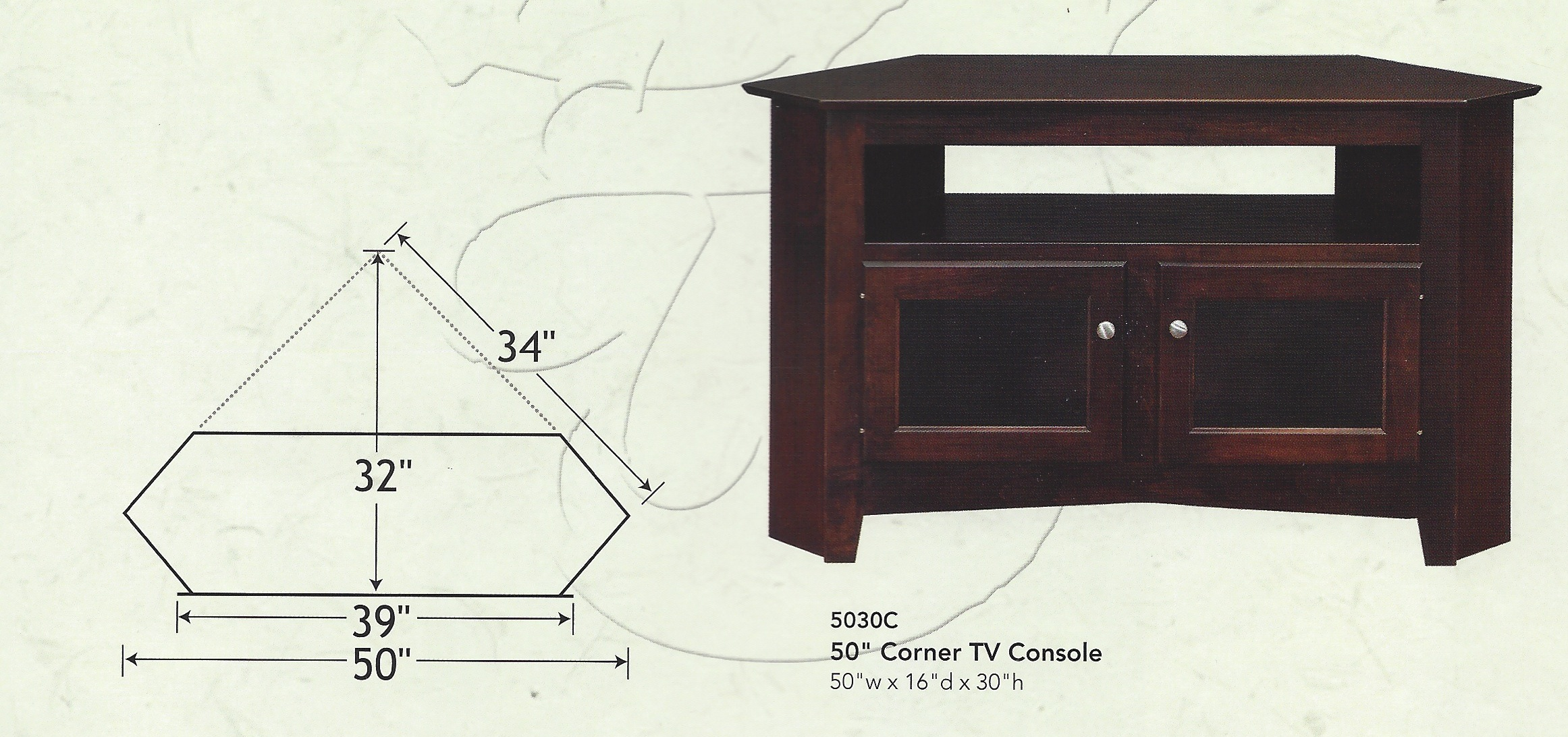 check out cbd98 c2866 50″ Corner TV Stand | Amish Traditions WV