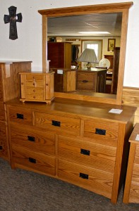 "Mission 54"" Dresser with Mirror - $1,279.00"