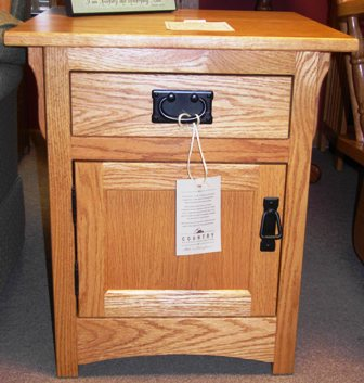 Mission End Table W Door Amish Traditions Wv