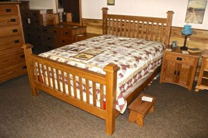 Amish Mission Queen Bed - $799.00