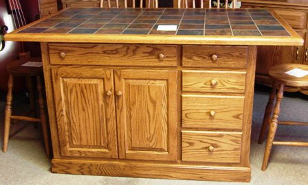 Kitchen Island Amish Traditions WV - Amish kitchen island