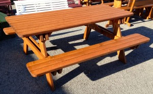 6u2032 Classic Picnic Table With Attached Benches U2013 $349.00 Stained, $269.00  Unfinished