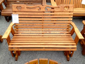 4′ Heart Glider – $269.00 Stained, $249.00 Unfinished