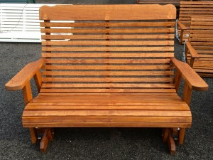 4′ High Back Glider – $299.00 Stained, $269.00 Unfinished