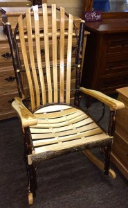 Hickory Fan Top XL Rocker with Wood Arms - $219.00
