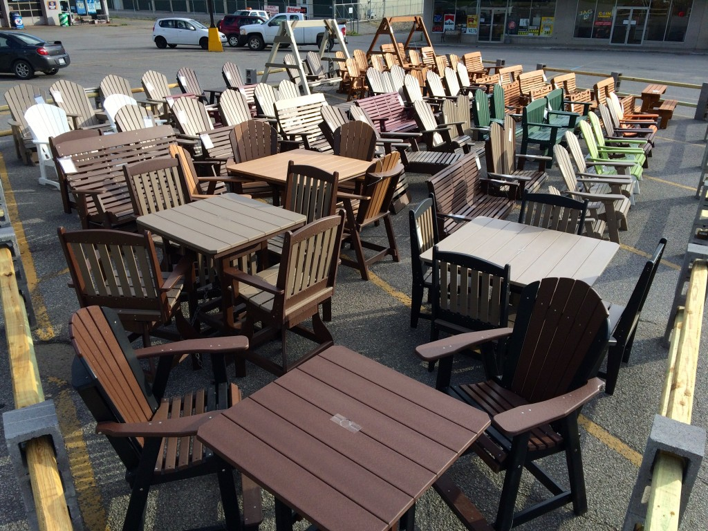 It May Not Be Summer Anymore, But We Have a Nice Selection of Amish Outdoor Furniture In Stock for the Christmas and Winter Season!