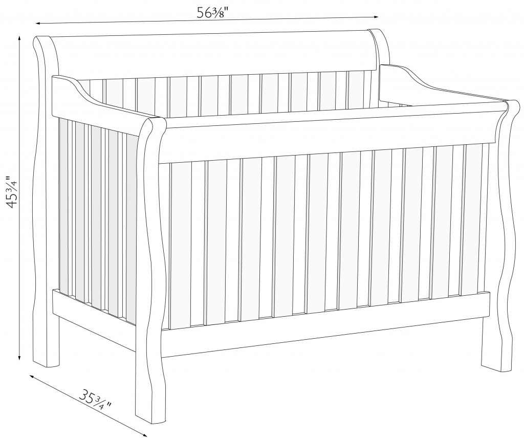 Baby Crib Dimensions Www Pixshark Com Images Galleries