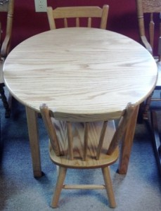 Round Child's Table