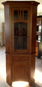 "26"" Biltmore Corner Hutch - $1,219.00 in Quarter Sawn White Oak"