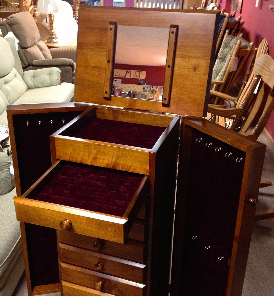 48″ Shaker Jewelry Armoire with 8 Drawers – Maple | Amish ...