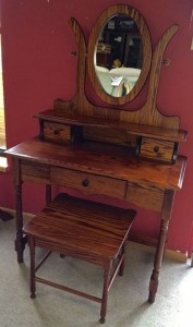 Dressing Table with Mirror and Bench - $599.00