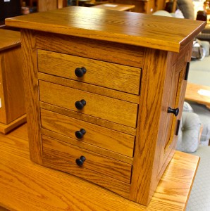 Flush Mission Dresser Top Jewelry Armoire - $469.00