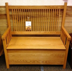 Mission High Back Deacon's Bench - $539.00
