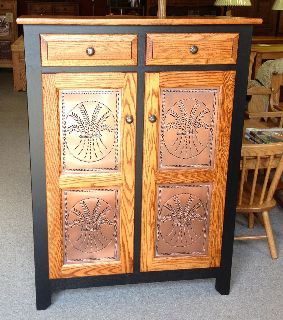 Pie Safe W Wheat Door Panels And Two Tone Finish Amish