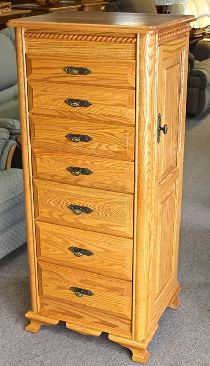 Deluxe Jewelry Armoire with Berkshire Trim | Amish ...