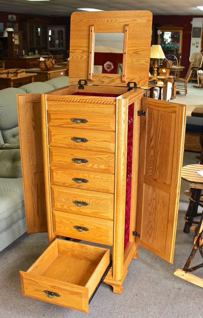 Deluxe Jewelry Armoire With Berkshire Trim Amish