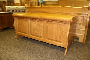Sleigh Blanket Chest with Berkshire Rope Twist Trim - $619.00