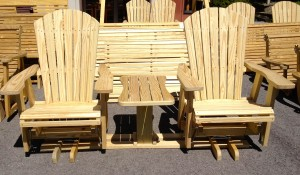 Adirondack Swivel Settee Glider - $529.00 Stained, $439.00 Unfinished