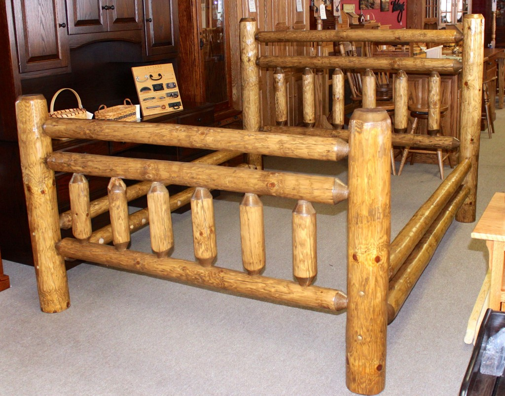 Rustic Frontier Log Bed Amish Traditions Wv
