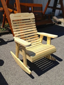 High Back Rocking Chair – $179.00 Stained, $149.00 Unfinished