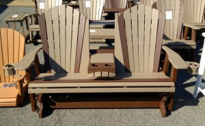 Poly 5' Adirondack Glider with Fold Down - $719.00