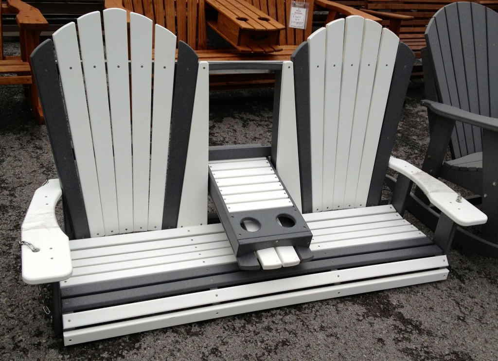 Poly 5 Adirondack Swing With Fold Down Amish Traditions Wv