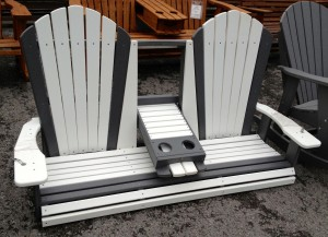 Poly 5' Adirondack Swing with Fold Down - $599.00
