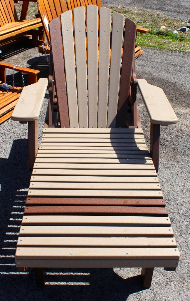 Poly adirondack chaise lounge amish traditions wv for Adirondack chaise lounge