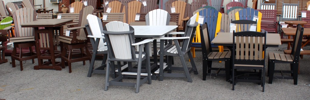 "Most Poly Picnic Tables are Available in Three Heights - Regular Height [30""], Counter Height [35""] and Bar Height [40""]! You may also choose to mix and match any table size and chair / seating option! Call or email us for a quote on any configuration."