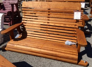 4′ High Back Swing – $219.00 Stained, $169.00 Unfinished