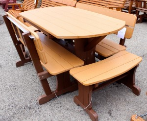 Poly Deluxe Oval Picnic Table Set with Benches - $1,319.00