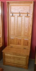 Raised Panel Hall Seat with 3 Panels - $589.00