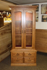 8 Gun Traditional Gun Cabinet with Drawers & Lights - $1,139.00