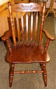 Acorn Arm Chair with Wheat Pattern - $199.00
