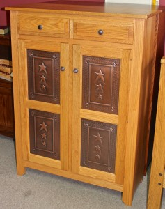 Pie Safe with Copper Tri-Star Door Panels - $739.00