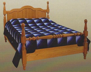 Amish Cathedral Crest Queen Bed - $1,079.00