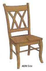 Double X Side Chair - $219.00