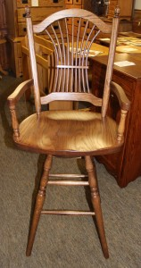 24″ Sheaf Back Stool with Arms - $299.00