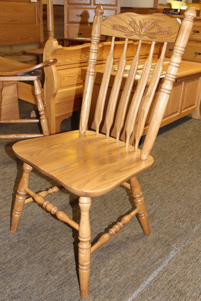 Acorn Side Chair with Wheat Pattern - $169.00