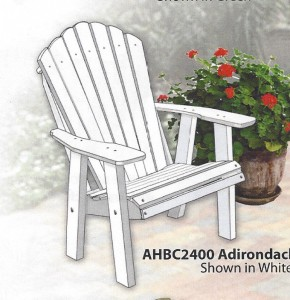 Poly 2' Adirondack Chair - $249.00