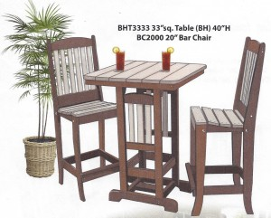 "33"" Square Bar Height Table and Chair Set - $859.00"