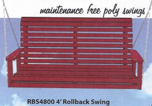 Poly 4' Rollback Swing - $379.00