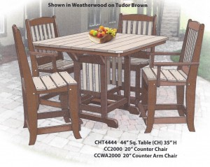 "44"" Square Counter Height Table and Chair Set - $1,479.00"