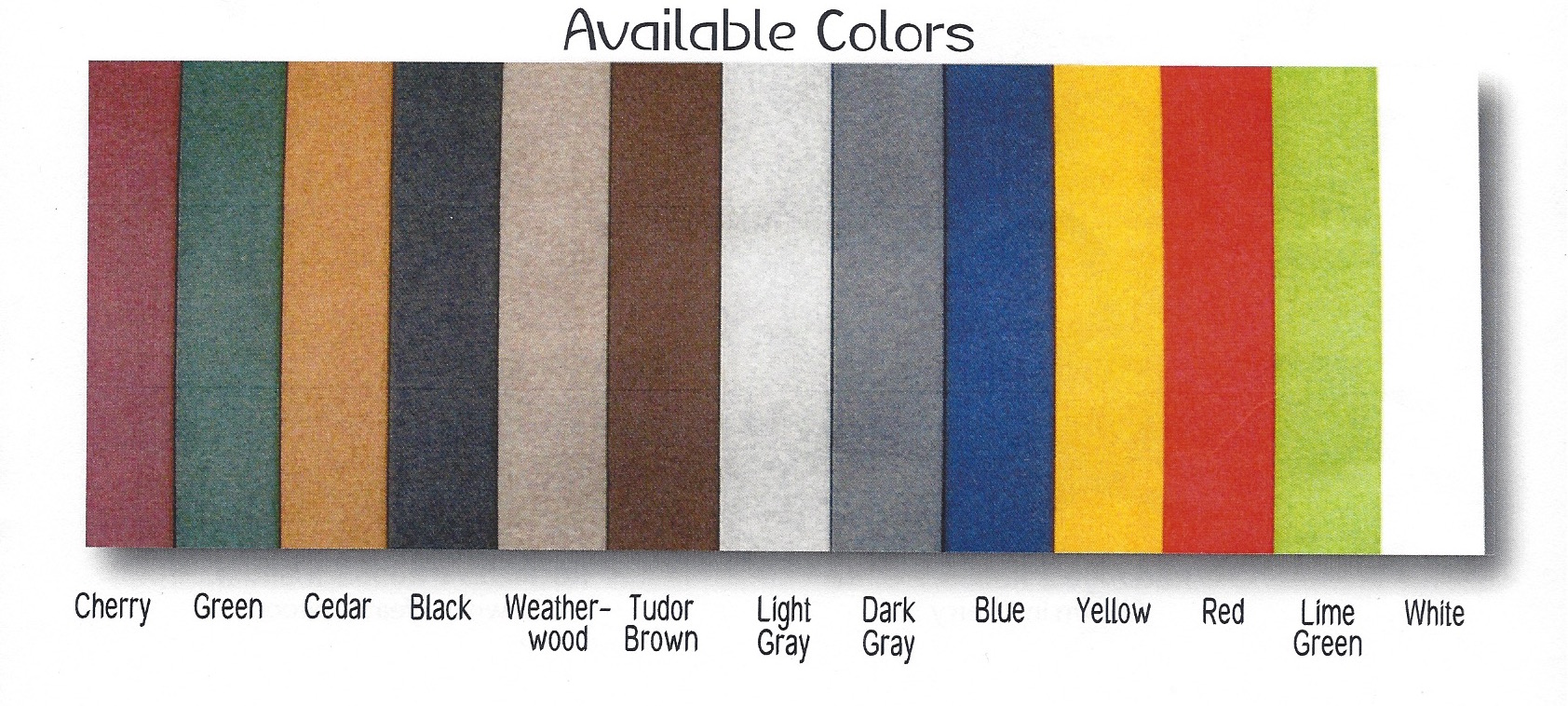 Choose From Any Of These Colors - Either One Solid Color or Two Tone - All At The Same Cost!