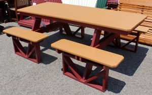 Poly 7' Walk In Picnic Table - $1,079.00