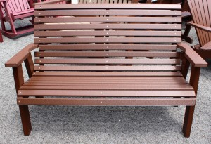Poly 4' Rollback Love Seat Bench - $379.00
