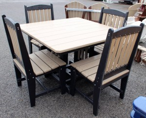 44″ Square Regular Height Table and Chair Set – $1,379.00