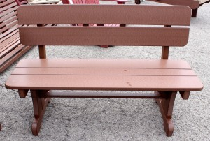 Poly 4' Bench with Back - $269.00