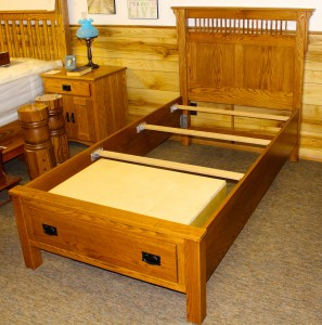 Deluxe Mission Twin Size 1 Drawer Captain's Bed - $1,249.00