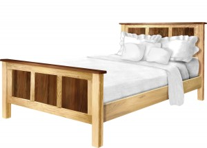 Cornwell Queen Bed - $1,139.00 in Brown Maple and Walnut